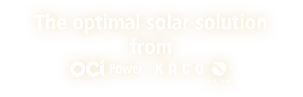 The optimal solar solution from ociPower KACO